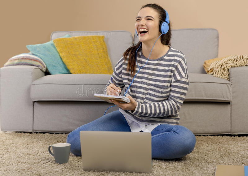 Home studying royalty free stock image