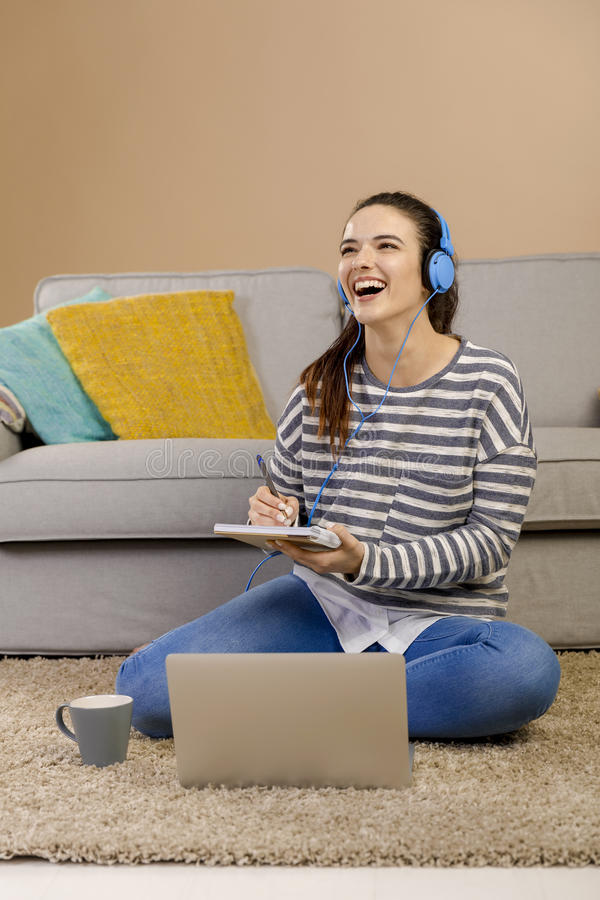 Home studying royalty free stock photography