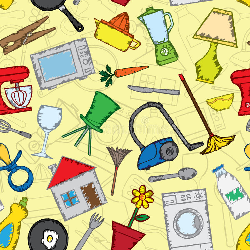 Download Home stuff pattern stock vector. Illustration of element - 33530799