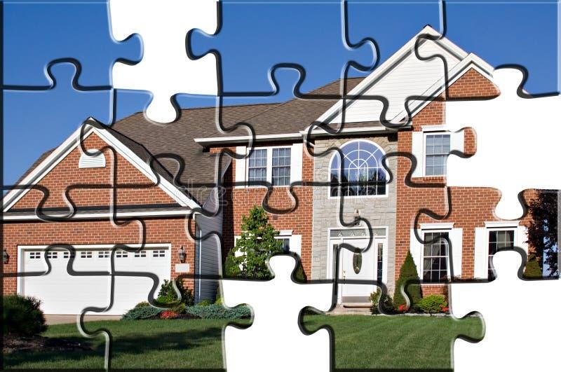 HOME suburbana ilustração do vetor