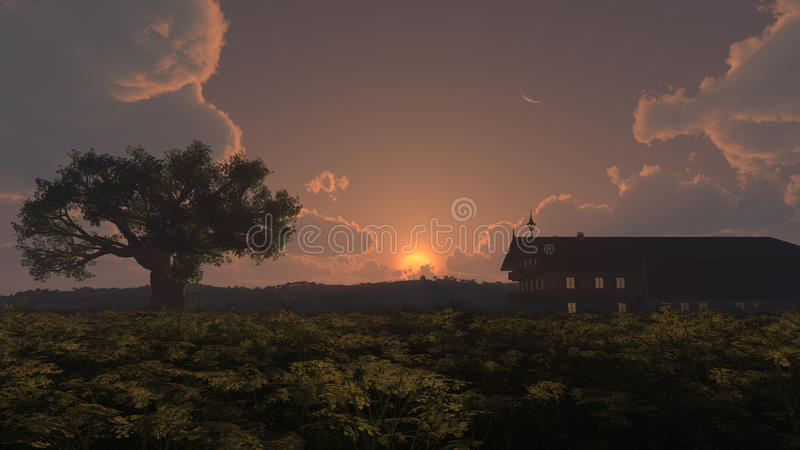 Home Sunset royalty free stock image