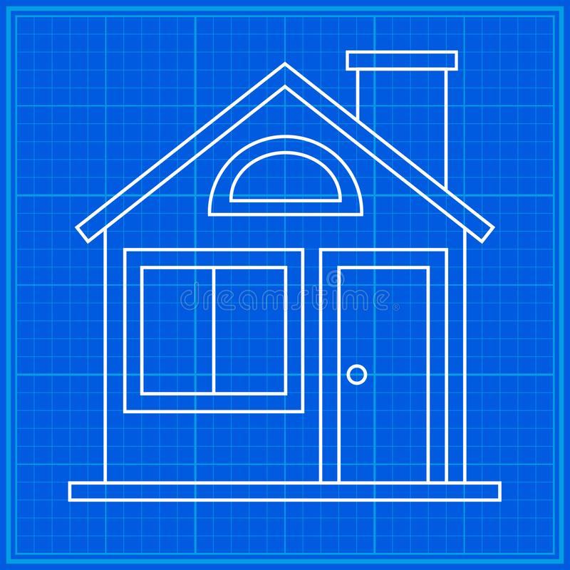 Home sweet home blueprint icon stock vector illustration of blueprint icon stock vector illustration of building malvernweather Images