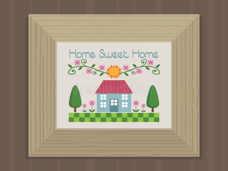 Download Home sweet home stock vector. Illustration of frame, door - 11669540