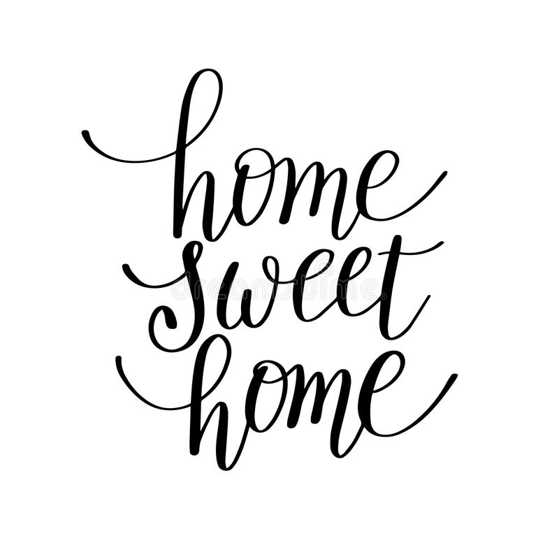 Home Sweet Home Handwritten Calligraphy Lettering Quote Stock Vector ...