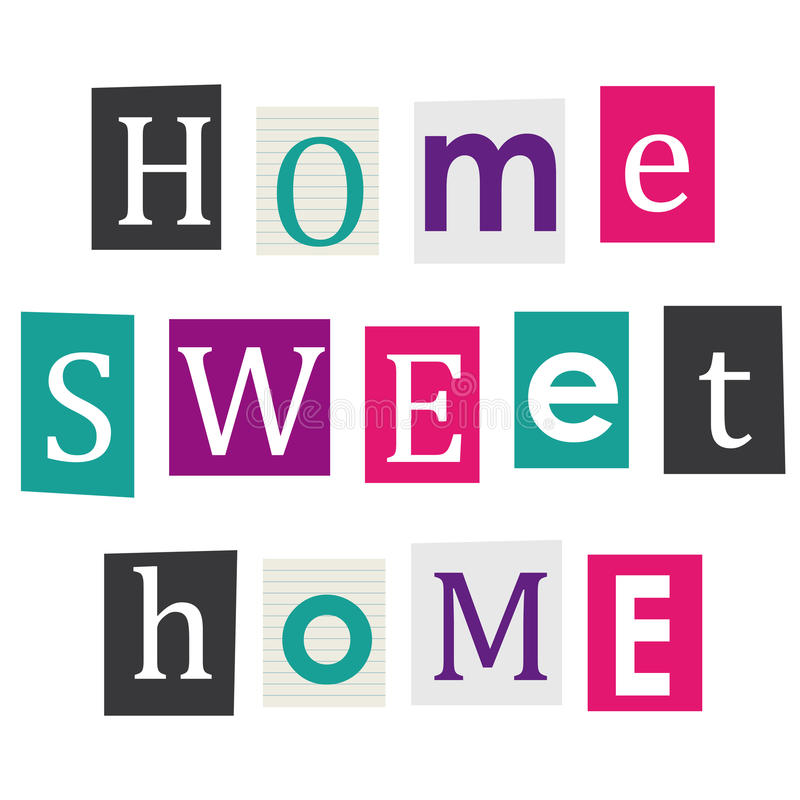 Home sweet home. royalty free illustration