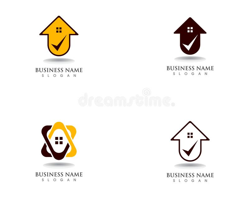 Home sweet home logo and symbol vector royalty free illustration