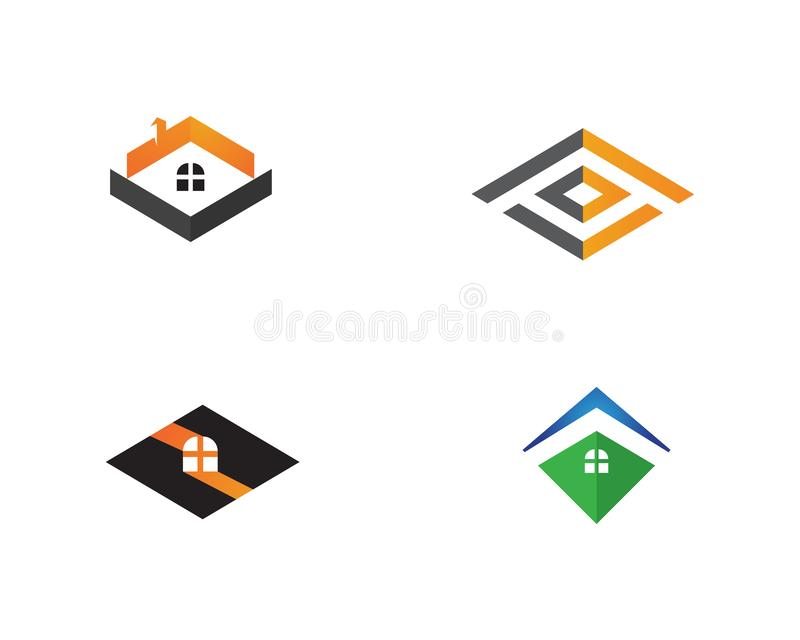 Home sweet logo vector royalty free illustration