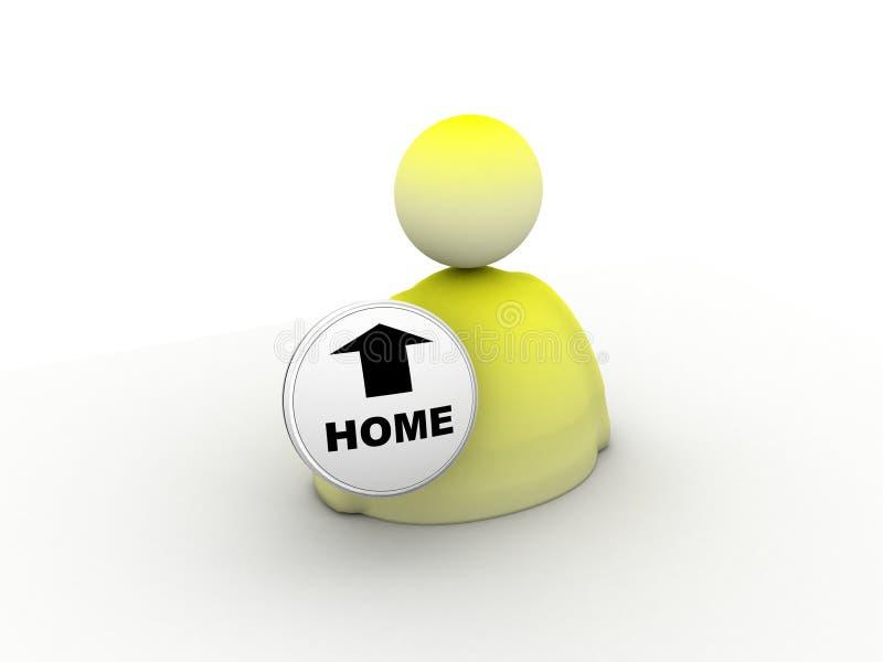 home symbol vektor illustrationer