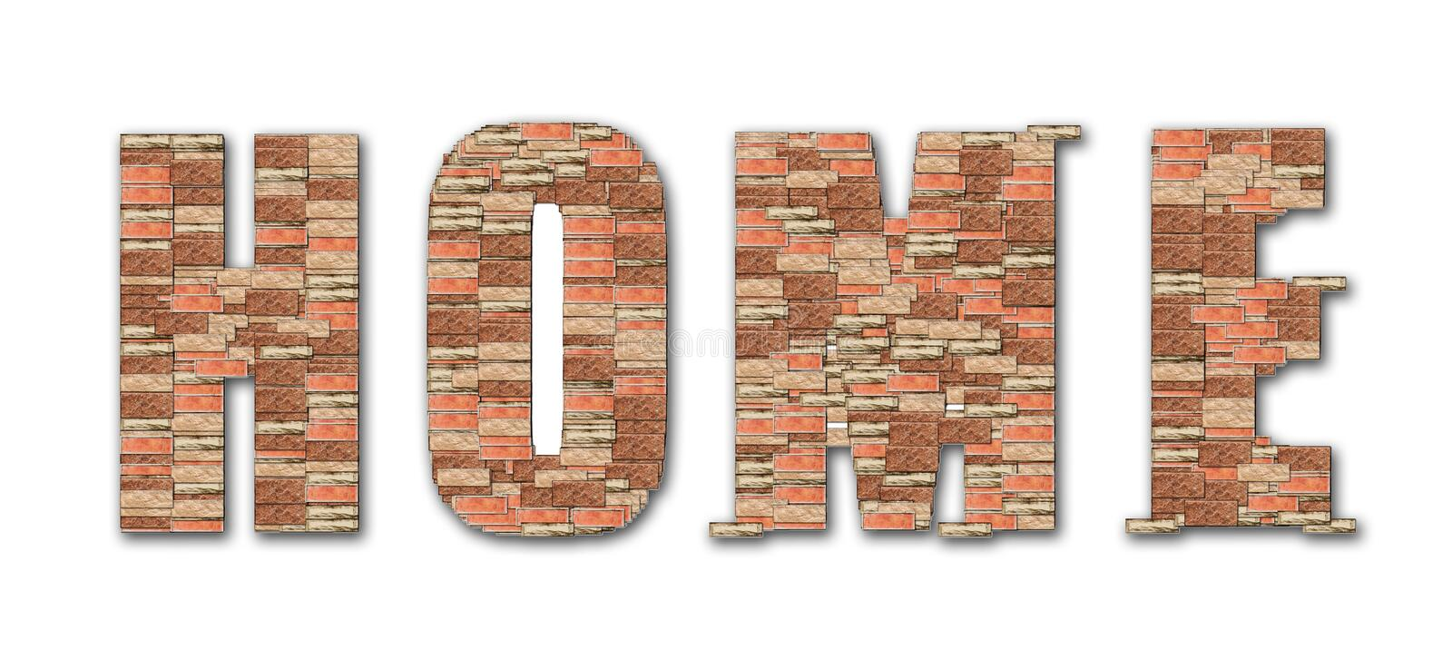 Download Home Symbol Brick Pattern Alphabet Stock Photo - Image: 22749934