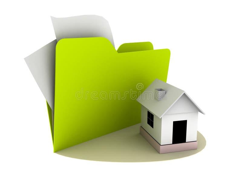 home symbol för mapp vektor illustrationer