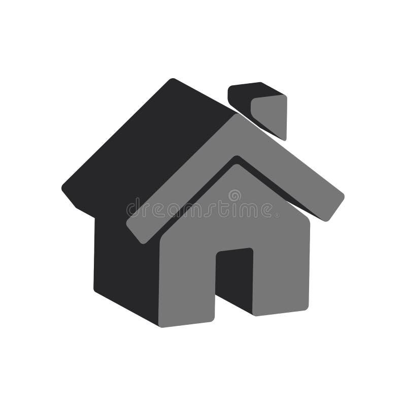 Home symbol. Flat Isometric Icon or Logo. stock illustration