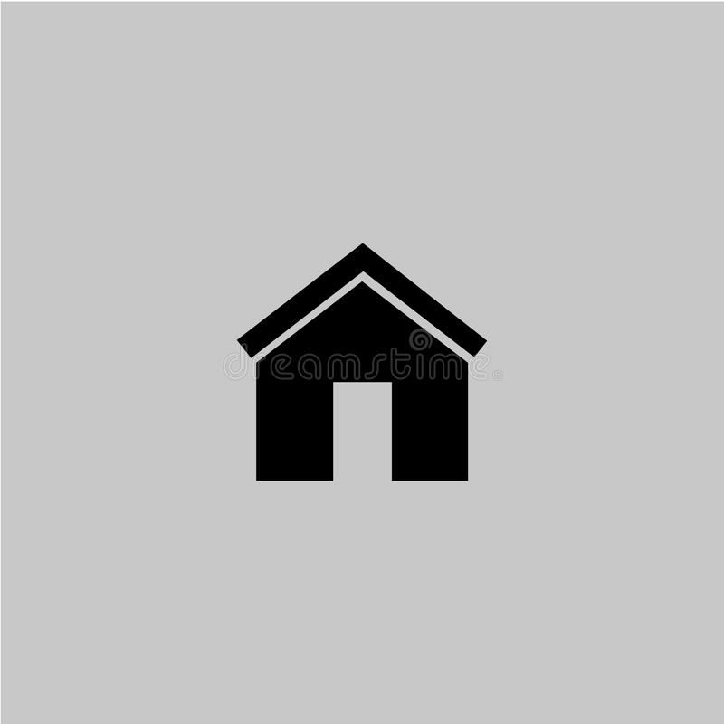 Home symbol on the grey background vector illustration