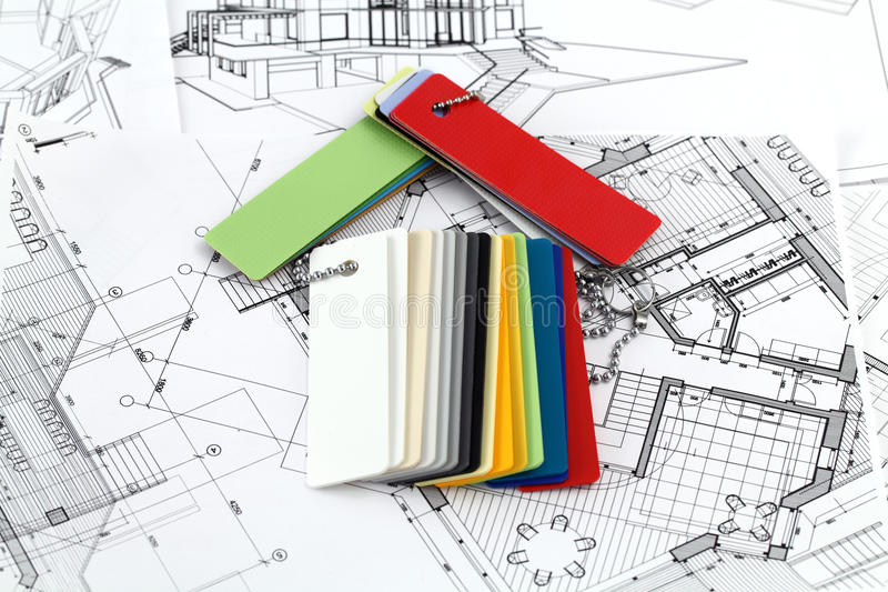 Download Home Symbol, Plans & Plastics Stock Photo - Image: 13018610