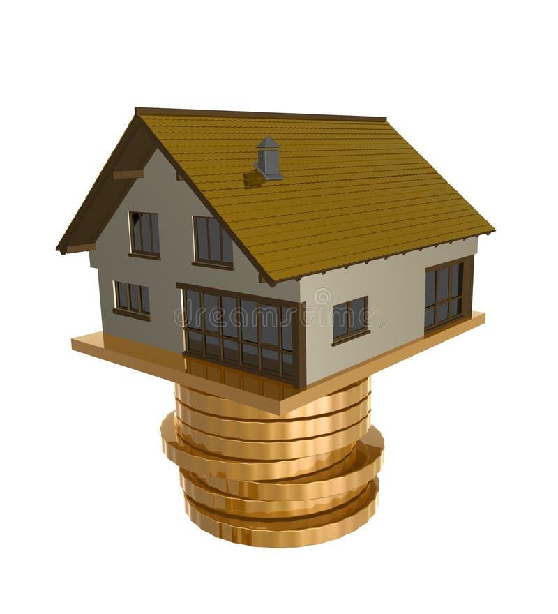home symbolsinvestering stock illustrationer