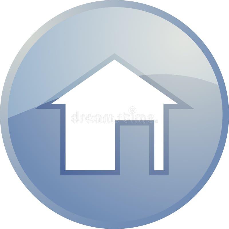 home symbolsnavigering stock illustrationer