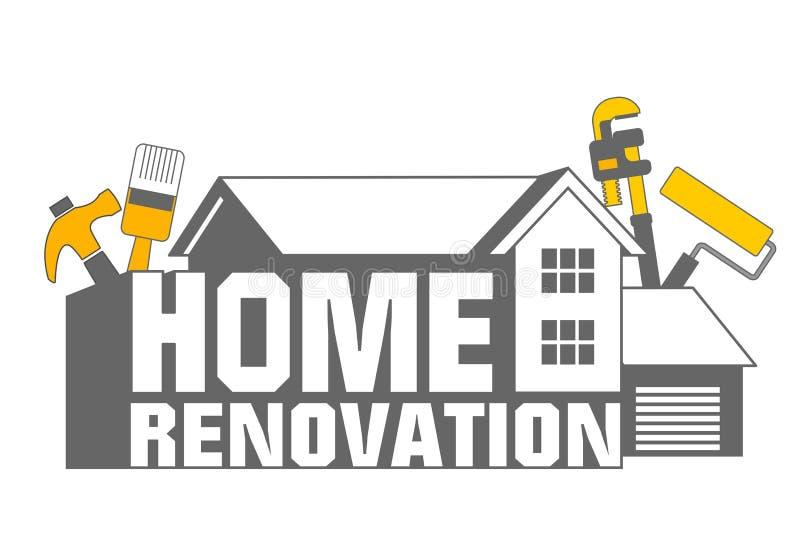 home symbolsrenovering vektor illustrationer