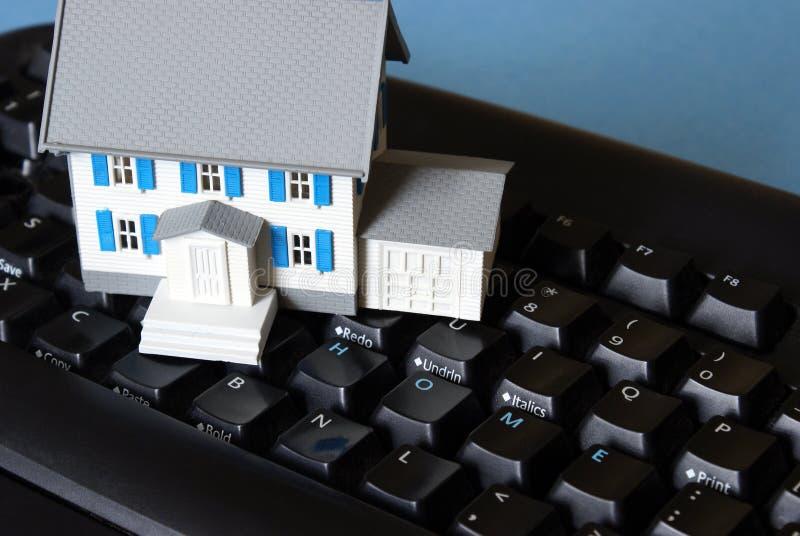 home tangentbord för begrepp arkivbild