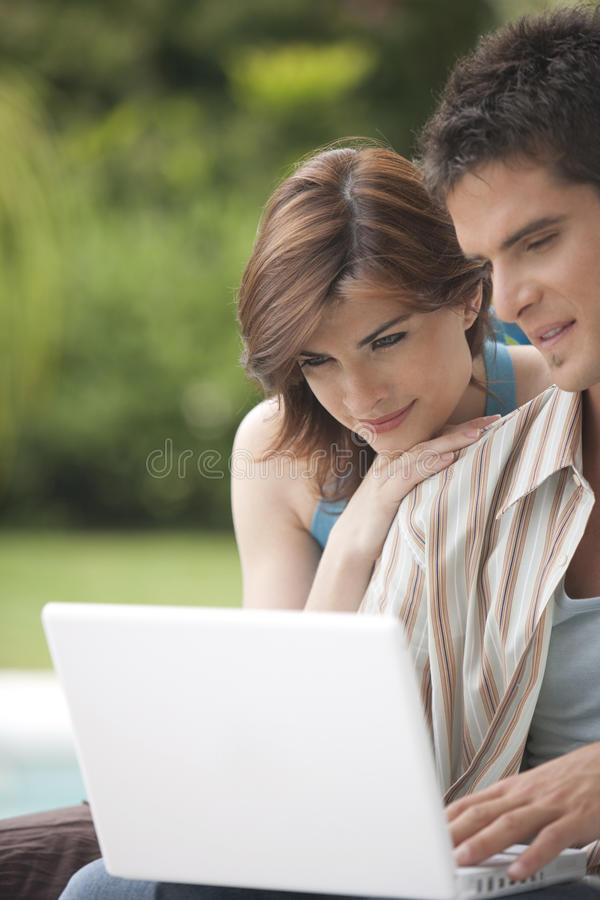 Download Home Tech Portrait With Laptop Stock Photo - Image: 24437288