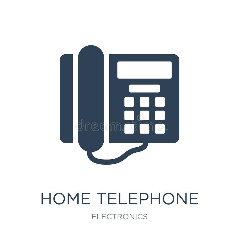 Home telephone icon in trendy design style. home telephone icon isolated on white background. home telephone vector icon simple. And modern flat symbol for web royalty free illustration