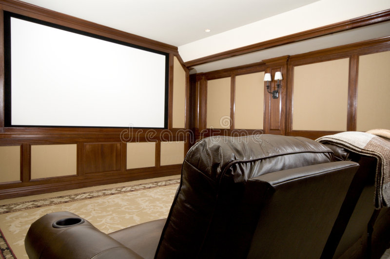 Home theater royalty free stock photography