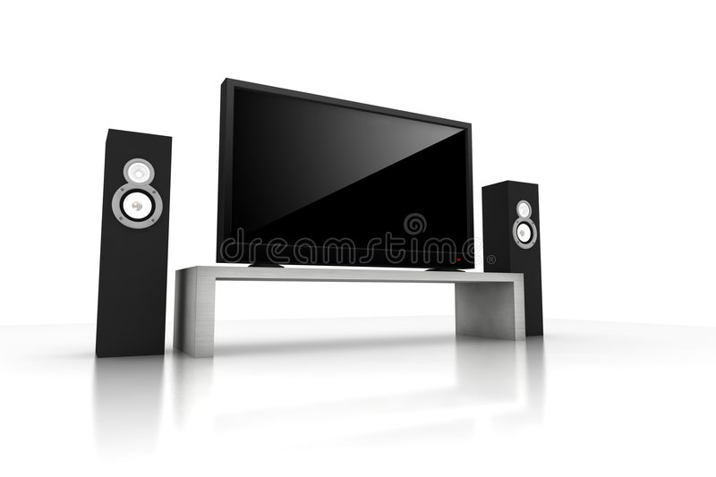 Download Home theater stock illustration. Image of screen, crystal - 6553154