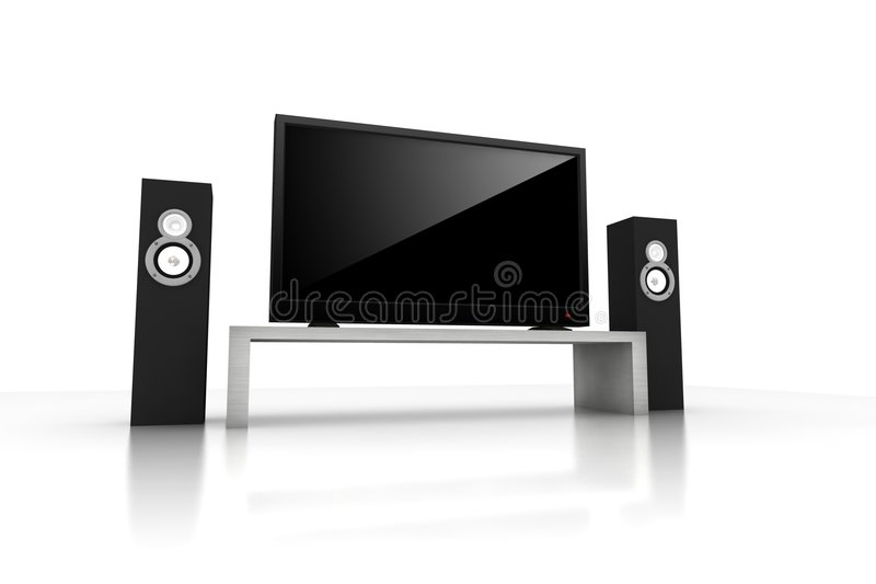 Download Home theater stock illustration. Image of center, media - 7650649