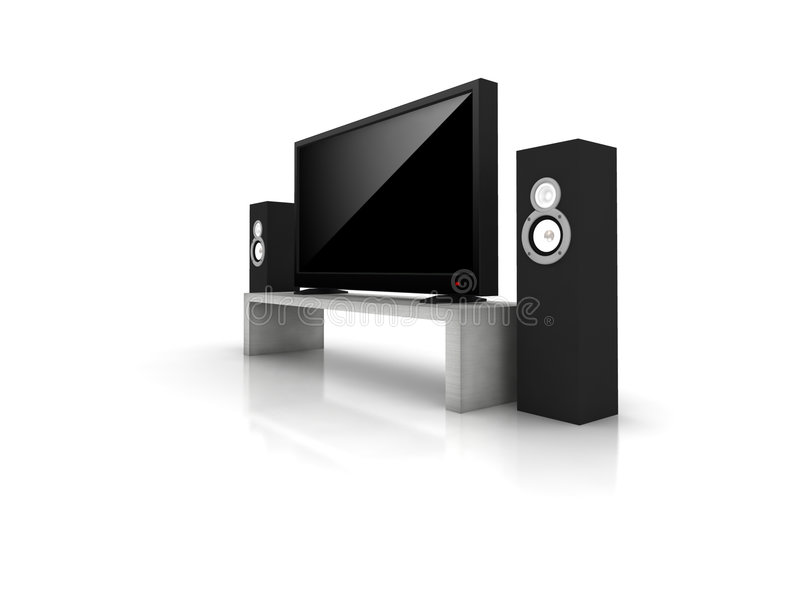 Download Home theater stock illustration. Image of liquid, center - 7650650