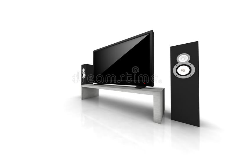 Download Home Theater / High Definition Television Stock Illustration - Image: 7963974