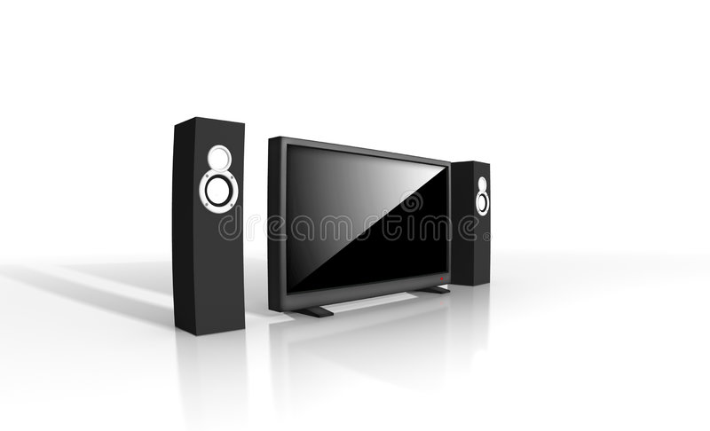 Home Theater / High Definition Television Royalty Free Stock Images