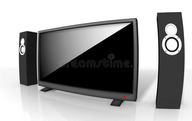 Download Home Theater / High Definition Television Stock Illustration - Image: 8333487