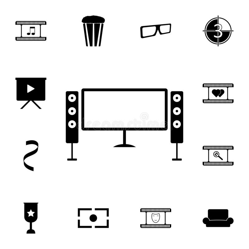 home theater icon. Detailed set of cinema icons. Premium quality graphic design icon. One of the collection icons for websites, we royalty free illustration