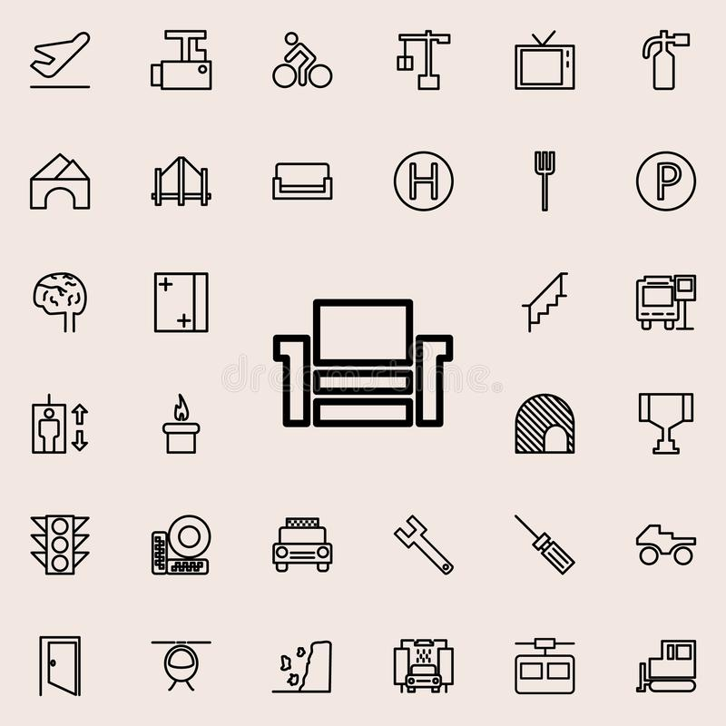home theater icon. Detailed set of minimalistic line icons. Premium graphic design. One of the collection icons for websites, web stock illustration