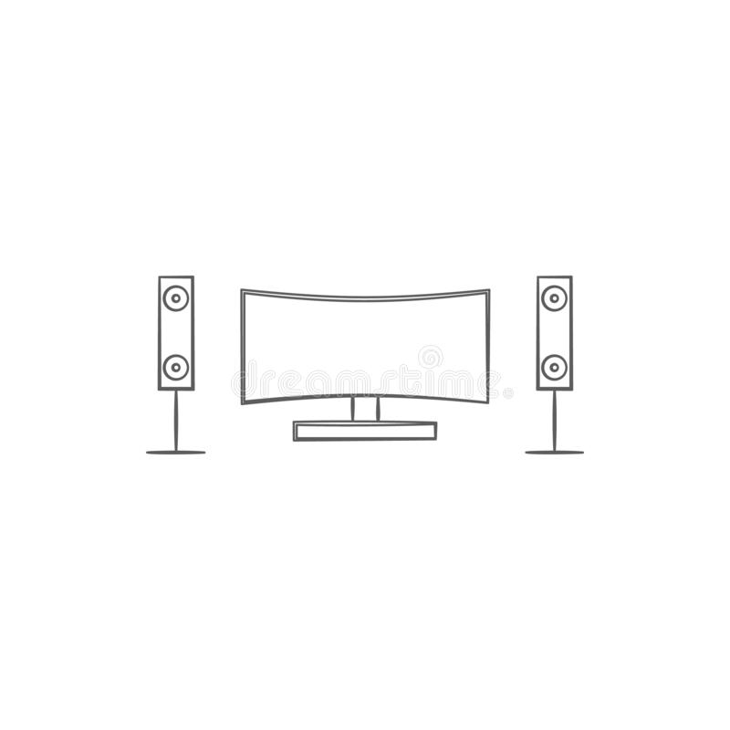 Home Theatre Design Concepts: Home Theatre Design Concept Stock Illustration