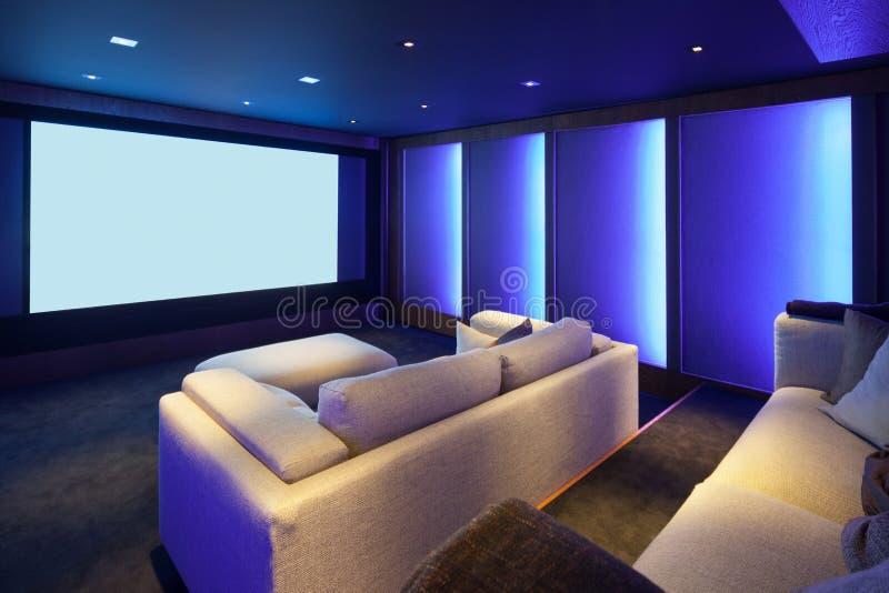 Home theater, luxury interior stock photo