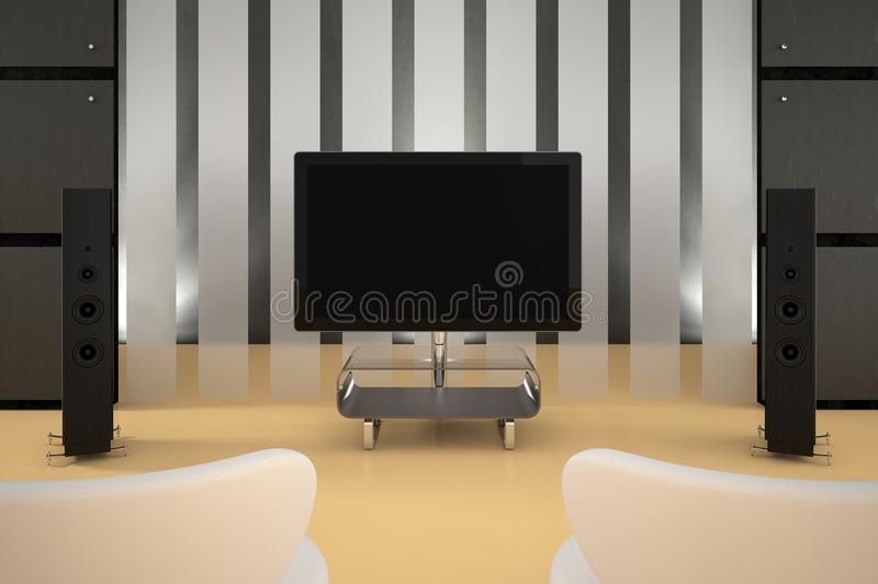 Download Home Theater Room stock illustration. Image of entertainment - 26496785