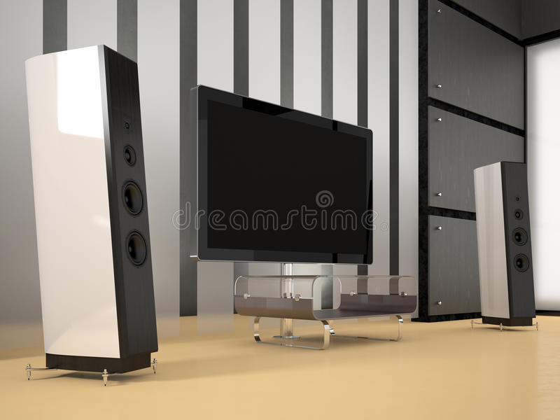 Download Home Theater Room stock illustration. Illustration of luxury - 26496823