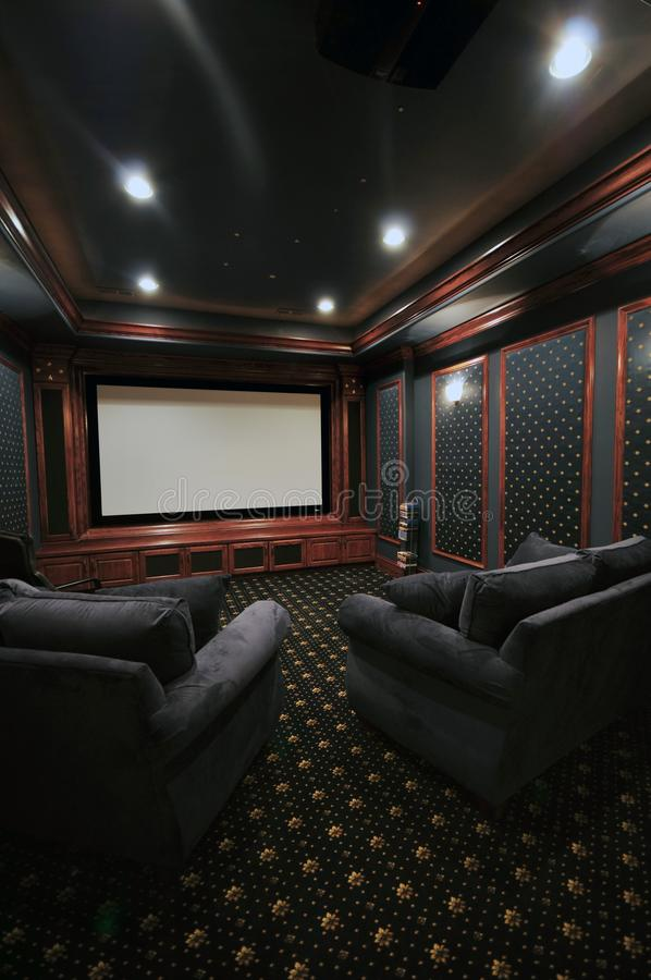 home theatre royaltyfri fotografi