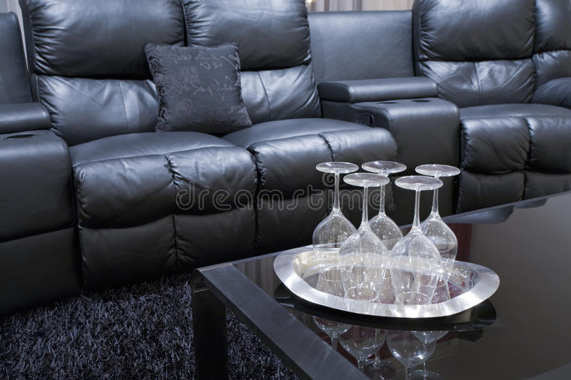 Home theatre chairs stock images