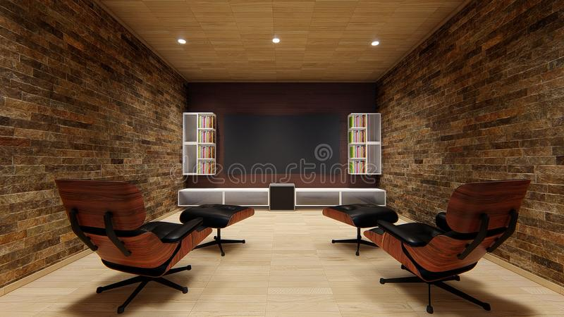 Home theatre tv projector design soft sofa uhd 4k entertainment home design beautiful perfect royalty free stock image