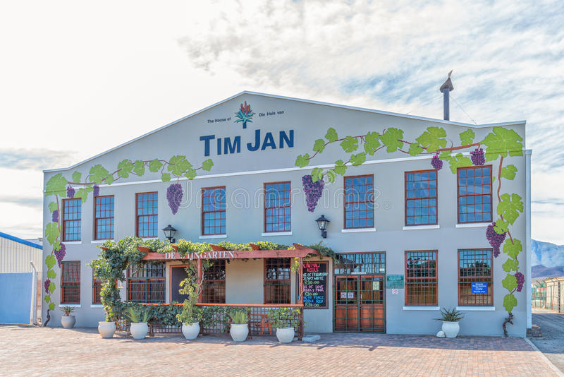 Home of the Tim Jan Aloe Ferox drink. BONNIEVALE, SOUTH AFRICA - MARCH 26, 2017: The home of Tim Jan, a drink consisting of pure Aloe Ferox juice and a natural royalty free stock photos