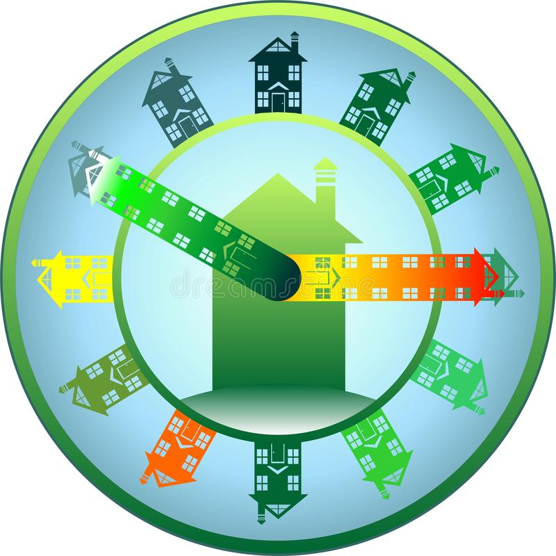 Download Home time stock illustration. Image of work, time, logo - 20285996