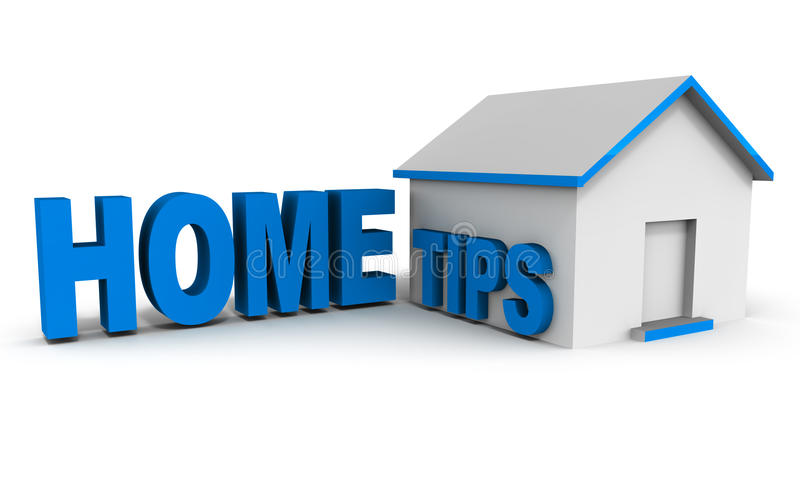 Home tips royalty free illustration
