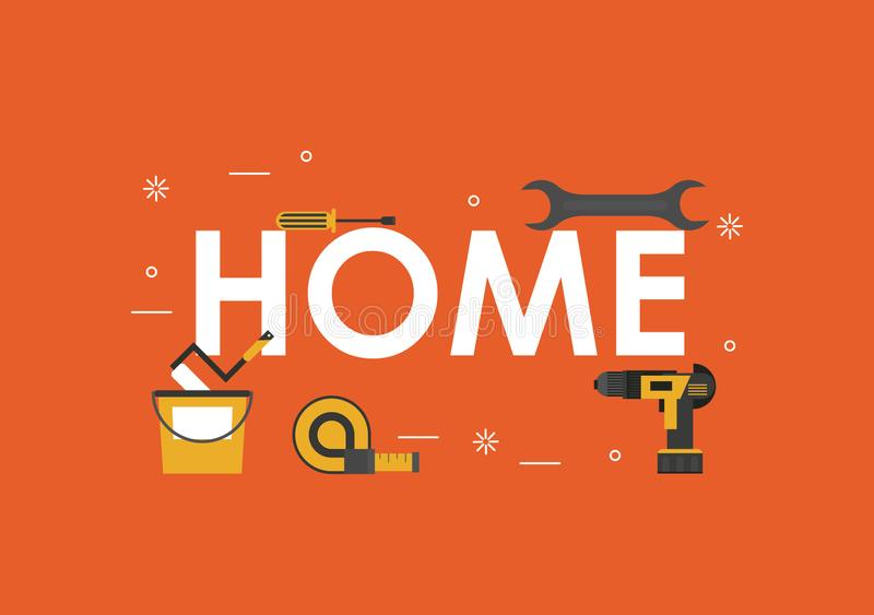 Home tools banner vector illustration
