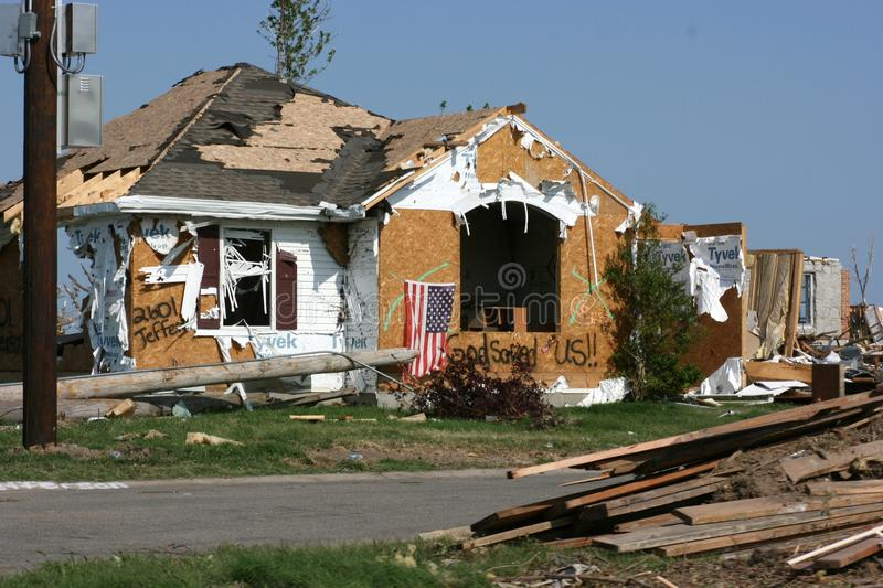 Download Home After Tornado stock image. Image of debris, saved - 19983473