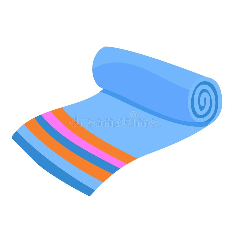 Home towel icon, flat style vector illustration