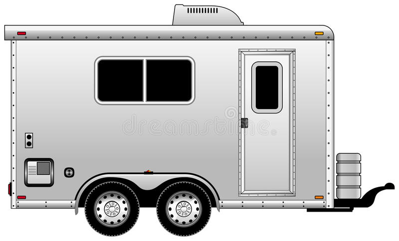 Home trailer stock photography