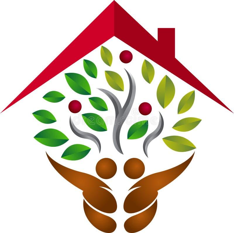 Home tree logo royalty free illustration
