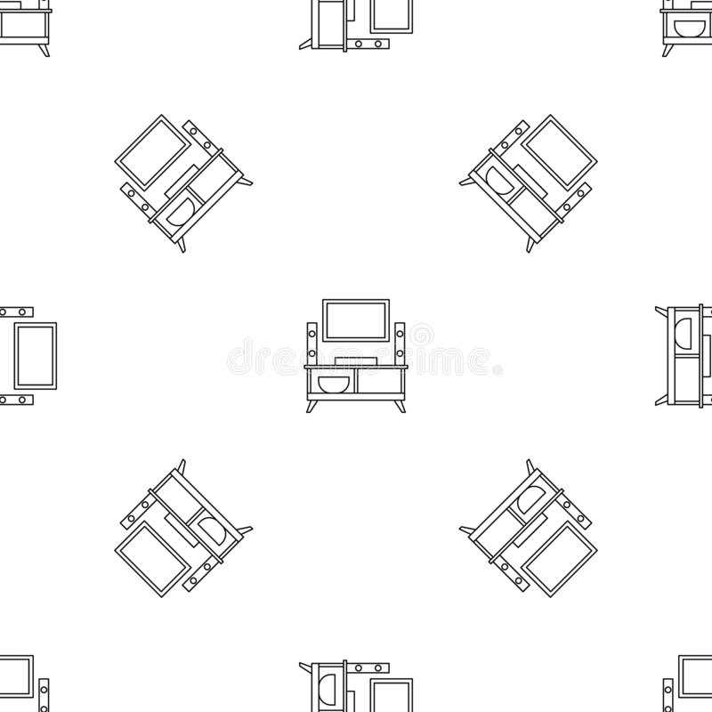 Home tv system pattern seamless vector vector illustration