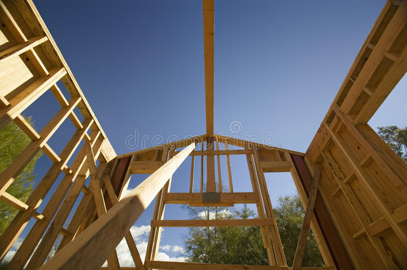Home under construction royalty free stock photo