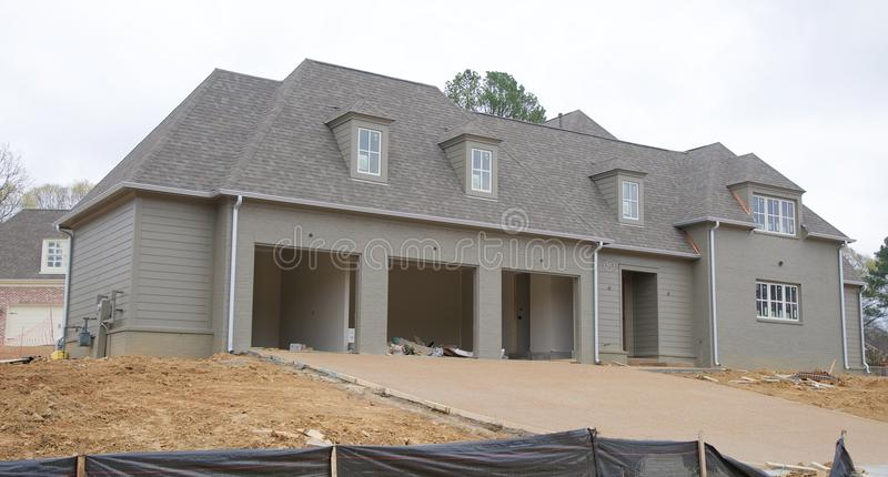 Home Under Construction in Suburbia royalty free stock photography